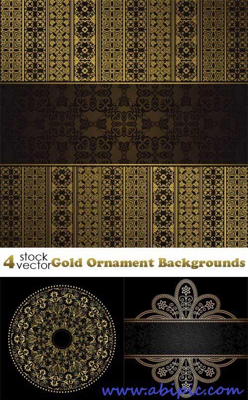 دانلود کادر و فریم های طلایی شماره 7 Vectors Gold Ornament Backgrounds