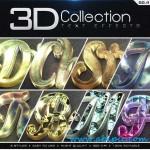 استایل و افکت متن 3 بعدی فتوشاپ 3D Collection Text Effects
