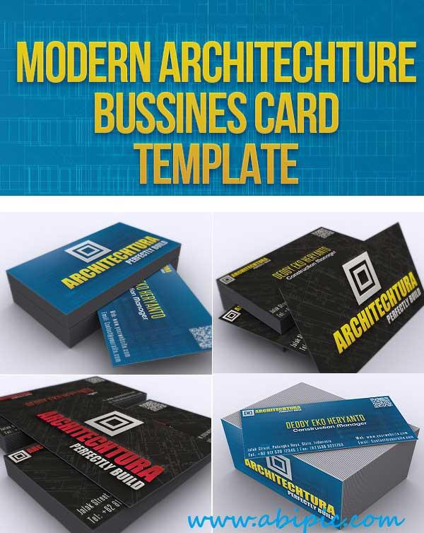 دانلود طرح لایه باز کارت ویزیت شماره 130 Modern Architechture Bussines Card