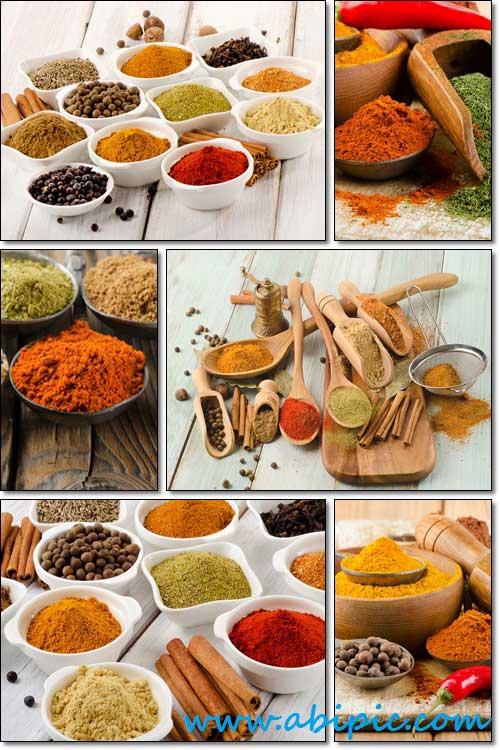 دانلود تصاویر استوک انواع مختلف ادویه Spices Stock photo