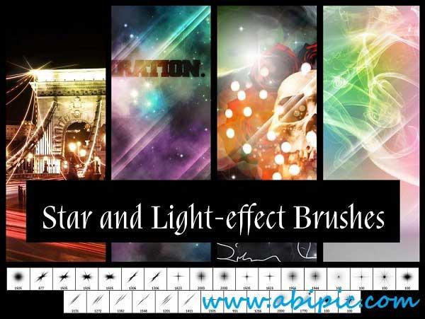 دانلود براش فتوشاپ ستاره و افکت های نوری Star and Light Effect Brushes