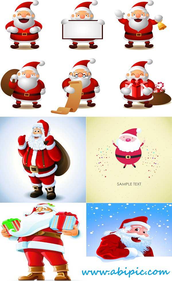 دانلود وکتور بابانوئل Stock Vector Santa Claus
