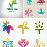 دانلود وکتور لوگو با طرح گل Stock Vectors Flower Logos