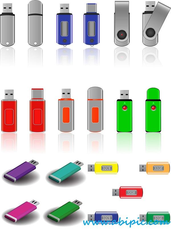 دانلود وکتور فلش مموری Vectors USB Flash Drives