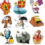 دانلود وکتور کارکترها و شخیصت های کارتونی بامزه Funny Cartoon Characters