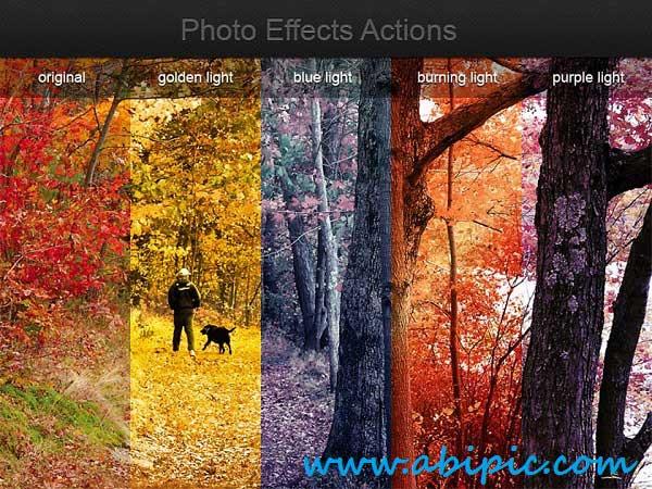 دانلود اکشن تغییر رنگ عکس Photo Effects Actions