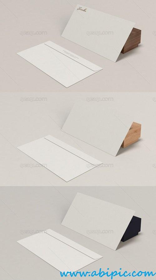 دانلود طرح لایه باز موک آپ پاکت نامه Envelope Mockup