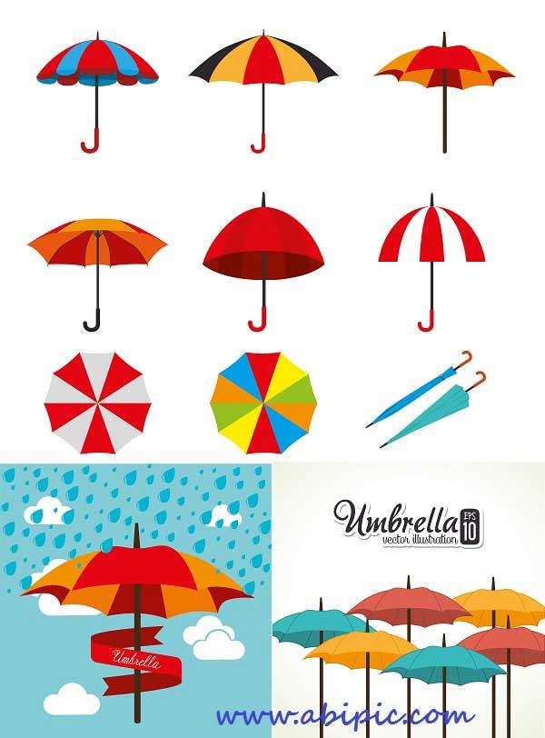 وکتور چتر سری شماره 2 Vector - Umbrella