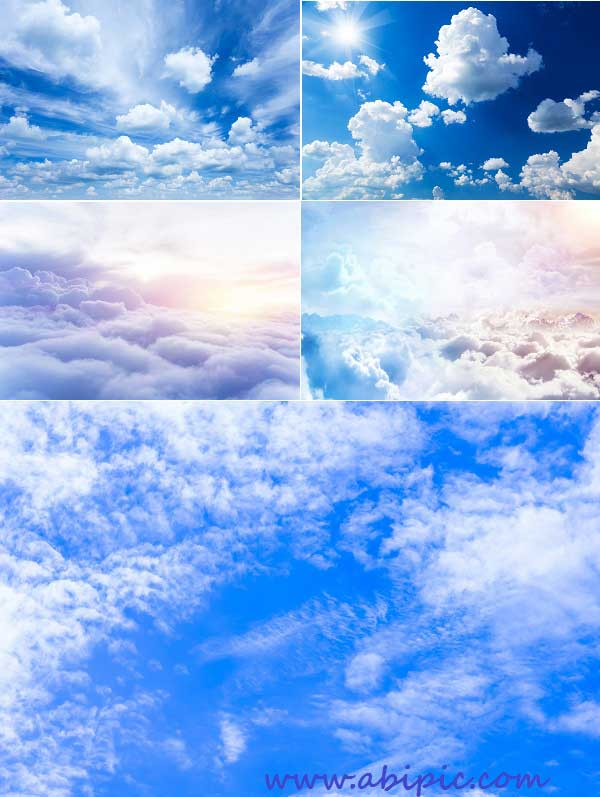 دانلود عکس استوک آسمان آبی و ابری شماره 2 Stock Photo - Sky with Clouds Backgrounds
