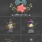 دانلود وکتور پس زمینه عاشقانه و رمانتیک Vector Valentines Day Romantic Greeting Cards