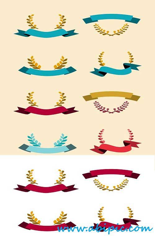 دانلود وکتور روبان زمستانه Winner Ribbon And Emblem