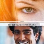 دانلود اکشن فتوشاپ ساخت ترک در عکس Old Cracks Photoshop Action