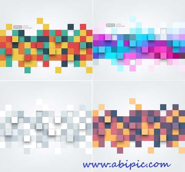 دانلود وکتور پس زمینه انتزائی شماره 12 Abstract Color Cubes Backgrounds Vector