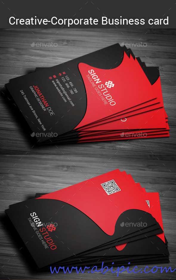 دانلود طرح لایه باز کارت ویزیت شمار ۱۳۶ Corporate Business Card