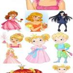 دانلود وکتور شاهزاده و شاهزاده خانم Princess and prince vector