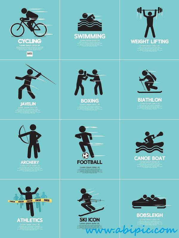 دانلود وکتور آیکون ورزشی Vector Sport Icons