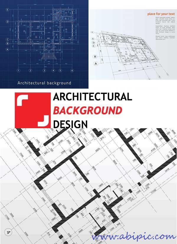 دانلود مجموعه 25 وکتور پس زمینه معماری Architectural Background Design