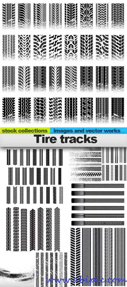 دانلود وکتور رد یا اثر تایر ماشین Tire tracks