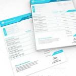 دانلود طرح لایه باز فاکتور فروش شماره 5  Invoice PSD Template