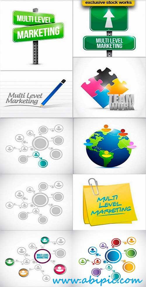 دانلود تصاویر استوک با موضوع مارکتینگ و بازار یابی Stock Photo Multi level marketing network