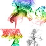 دانلود تصاویر استوک دودهای رنگارنگ Abstract Multicolored Smoke