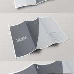 دانلود موک آپ بروشور سه لت Tri Fold Brochure Mockup Template