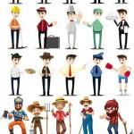 دانلود وکتور مردم و مشاغل مختلف Vectors – Cartoon Workers