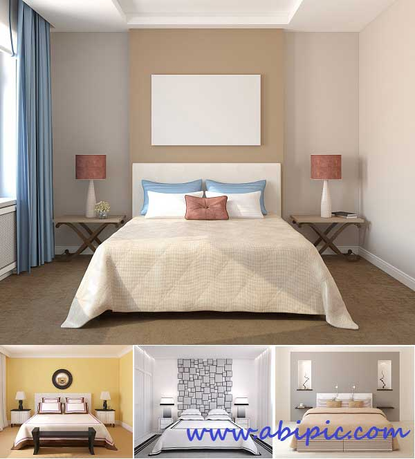 دانلود تصاویر استوک اتاق خواب Bedroom interior - Stock Photo