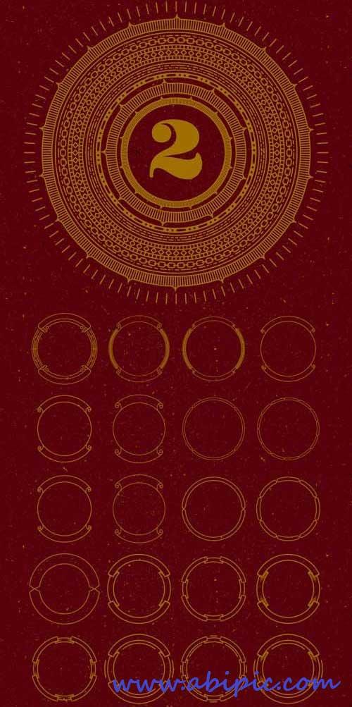 دانلود مجموعه وکتورهای ساخت علائم و نشان ها و فریم های دایره ای Circle Badge Creator