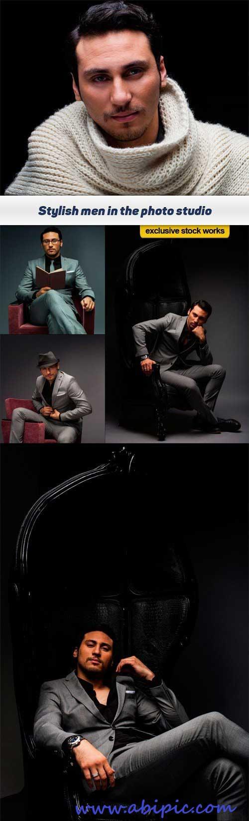 دانلود تصاویر استوک مرد شماره 4 Stylish men in the photo studio