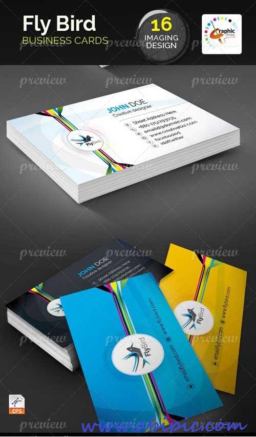 دانلود وکتور کارت ویزیت با طرح پرنده Fly Bird Business Cards