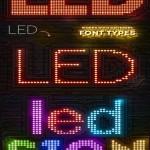 دانلود ابزار ساخت افکت متن ال ای دی LED Lights Sign Photoshop Creator
