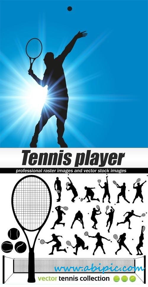 دانلود وکتور بازیکن تنیس Vector Tennis player