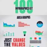 دانلود پروژه افترافکت ساخت ویدئوهای اینفوگرافیک After Effect 100 Infographics Kit