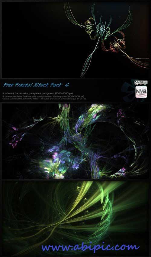 دانلود بک گراند های فرکتال پس زمینه شفاف Fractal Backgrounds Transparent PNG