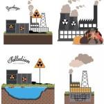 دانلود تصاویر وکتور انواع آلودگی های محیط زیست Stock Vectors Pollution design  background