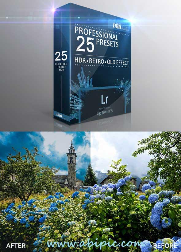 دانلود مجموعه افکت ها و فیلترهای HDR و قدیمی لایتروم HDR Retro Old Effect Lightroom Presets