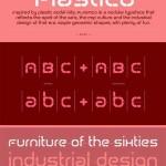 دانلود فونت انگلیسی پلاستیکو TCF Plastico – 60's Modular Typeface