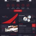 دانلود قالب حرفه ای پاورپوینت سری 16 Red'9evollution PowerPoint