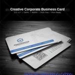 دانلود طرح لایه باز کارت ویزیت شرکتی شماره 12 Creative Corporate Business Card