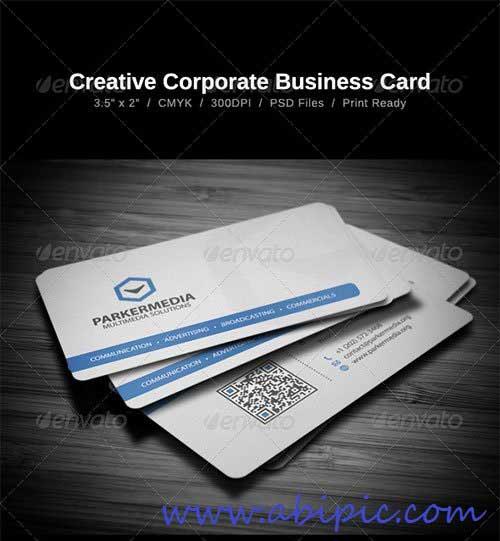 دانلود طرح لایه باز کارت ویزیت شماره 140 Creative Corporate Business Card