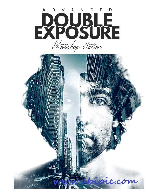 دانلود اکشن فتوشاپ نمایش 2 عکس روی هم Double Exposure Action