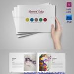 دانلود طرح ایندیزیان بروشور کتابی سایز آ 5   A5 InDesign Portfolio