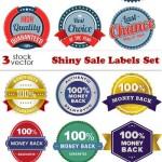 دانلود وکتور لیبل  برچسب های فروش سری 5 Vectors Shiny Sale Labels Set