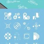 دانلود وکتور و طرح لایه باز شیپ های انتزائی فتوشاپ Abstract Shapes 40 Scheme Shapes