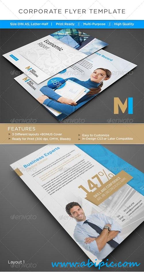 دانلود طرح لایه باز پوستر شرکتی شماره 6 Corporate Flyer / AD Template
