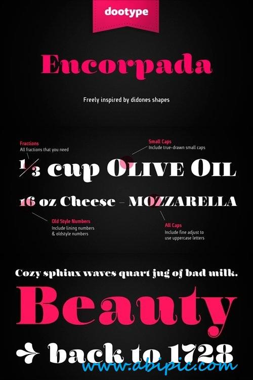 دانلود فونت انگلیسی Encorpada Font Family Bundle