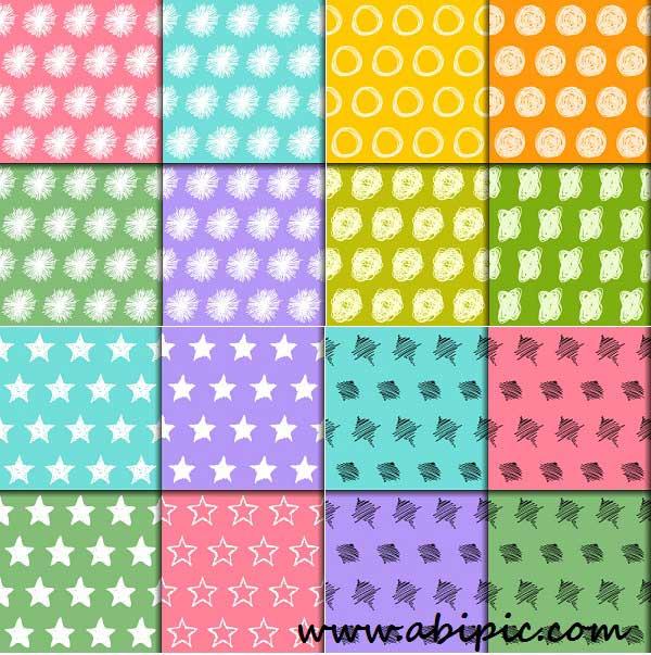 دانلود وکتور پترن های یکپارچه شماره 11 Seamless pattern collection