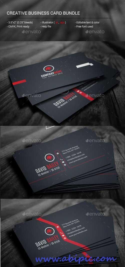 دانلود کات ویزیت خلاقانه شماره 14 Creative Business Card Bundle