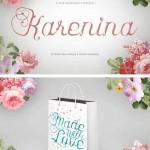 دانلود فونت انگلیسی طراحی Karenina Font